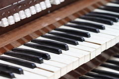 Old Piano View Royalty Free Stock Photography