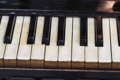Old Piano View Royalty Free Stock Photo