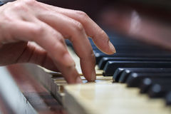 Old Piano View Royalty Free Stock Images