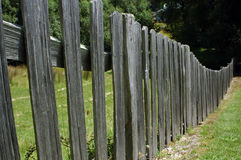 Old picket fence Stock Images