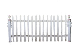 Old picket fence. Old white picket fence with clipping path Royalty Free Stock Photography
