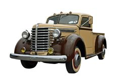 Old Pickup. This is a picture of an old 1940s pick up truck, isolated on white royalty free stock images