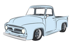 Old pickup coloured drawing Royalty Free Stock Images