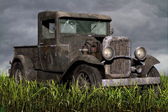 Old Pickup truck in field Royalty Free Stock Images