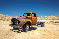 Old pickup truck in Ghost town Rhyolite Royalty Free Stock Photography