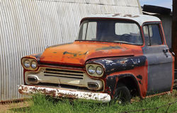 An Old Pickup Truck in a Junkyard Stock Photography