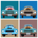 Old pickup. Vector illustration of retro cars. the old pickup Royalty Free Stock Images
