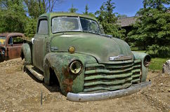 Old pickup without wheels Stock Photography
