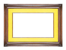 Old picture frame. On white background Royalty Free Stock Photography