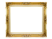 Old picture frame. On white background stock illustration