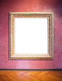 Old picture frame. At a museum - nice background with copy space Stock Image