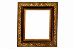Old Picture Frame (Black and Gold) royalty free stock image