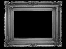 Old Picture Frame on Black royalty free stock images