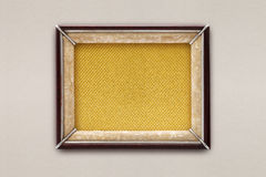 Old picture frame on a colored background Royalty Free Stock Photography