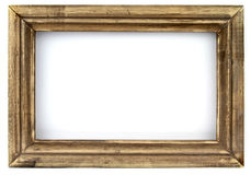 Old picture frame. Isolated on white background Royalty Free Stock Photo