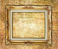 Old picture frame on wall. The Old picture frame on wall royalty free stock image