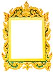 Old picture frame in white background Stock Photo