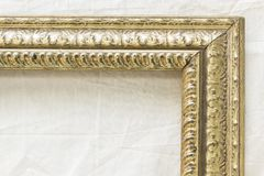 Old picture frame on a white background. For pictures and text Royalty Free Stock Photography