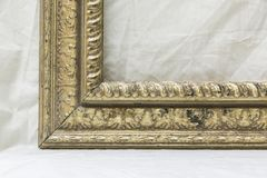 Old picture frame on a white background. For pictures and text Stock Photos