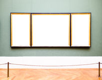 Old picture frames. Beautiful old picture frames at a museum - copy space Royalty Free Stock Photos