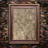 Old picture frames with cracked canvas Royalty Free Stock Photos