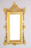 Old picture golden frame on white background. Royalty Free Stock Photos