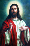 Christ Jesus. An old picture of Jesus Christ, from an anonymous author Stock Photo
