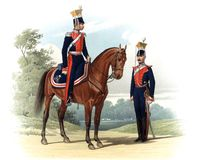 An old picture of the Officers and soldiers of the Russian Empire. Royalty Free Stock Photos