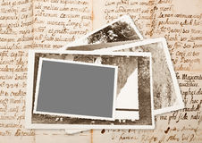 Old pictures frame Stock Photography