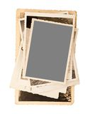 Old pictures. Frame isolated on white Royalty Free Stock Photos