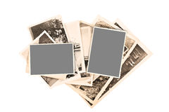 Old pictures. Frame isolated on white background Royalty Free Stock Images