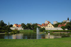 Old and picturesque city of visby Stock Photos