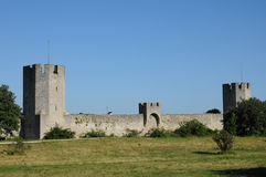 Old and picturesque city of visby Royalty Free Stock Images