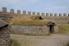 Old and picturesque fort of Eketorp Stock Images
