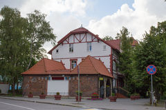 Old picturesque house in Svetlogorsk. Royalty Free Stock Photos