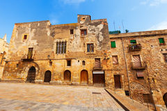 Old picturesque houses of  european town. Tarragona Stock Photography