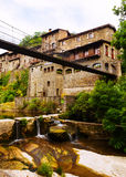 Old picturesque houses. Rupit, Catalonia Stock Photography