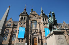 Old and picturesque Nordic Museum in Stockholm Royalty Free Stock Images