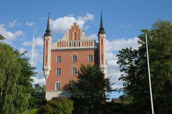 Old and picturesque red castle in Stockholm Stock Image