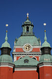 Old and picturesque Saint Jacob church in Stockholm Stock Images