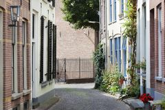 Picturesque street in Zutphen Royalty Free Stock Image