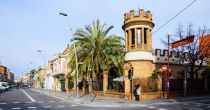 Old picturesque streets of Badalona. Barcelona Royalty Free Stock Photography