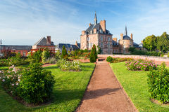 Old picturesque village in the Loire Valley in France Stock Images