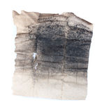 Old piece of paper with charcoal dust Stock Photography