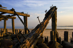 Old pier. Royalty Free Stock Images
