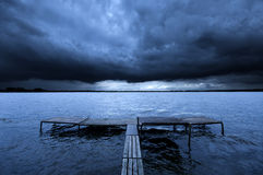Free Old Pier And Dramatic Sky Royalty Free Stock Image - 21390886