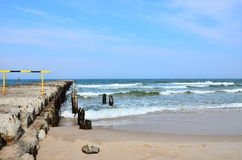 Old pier. On the Baltic sea near Ustka Royalty Free Stock Images