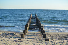 Old Pier on the Beach Royalty Free Stock Photos