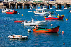 Old Pier with Boats at Sagres, Portugal Stock Images