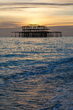 Old pier in Brighton , England. Royalty Free Stock Images